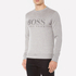 BOSS Green Men's Salbo Logo Sweatshirt - Grey: Image 2
