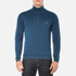 BOSS Green Men's Zime Quarter Zip Jumper - Blue: Image 1