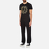 Versace Jeans Men's Embroidered T-Shirt - Black: Image 4