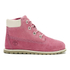 Timberland Toddler's Pokey Pine Size Zip Lace Up Boots - Pink Nubuck: Image 1