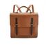 The Cambridge Satchel Company Men's Bridge Closure Backpack - Vintage/Dark Brown: Image 1