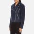 Gestuz Women's Daya Suede Biker Jacket - Blue: Image 2