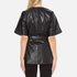 Gestuz Women's Sash Leather Kimono - Black: Image 3