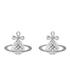 Vivienne Westwood Jewellery Women's Simone Bas Relief Earrings - Rhodium: Image 1
