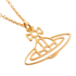 Vivienne Westwood Jewellery Women's Thin Lines Flat Orb Pendant - Gold: Image 3