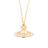 Vivienne Westwood Jewellery Women's Thin Lines Flat Orb Pendant - Gold: Image 1