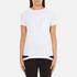 Helmut Lang Women's Medium Weight Cotton Jersey Slash Hem T-Shirt - White: Image 1