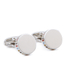 Paul Smith Accessories Men's Stripe Edged Cufflinks - Silver: Image 1