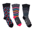 Paul Smith Accessories Men's Stripe and Spot 3 Pack Socks - Multi: Image 1