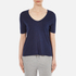 T by Alexander Wang Women's Classic Cropped T-Shirt with Chest Pocket - Marine: Image 1