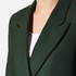 PS by Paul Smith Women's Double Breasted Wool Cashmere Coat - Green: Image 4