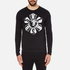 Versus Versace Men's Large Logo Long Sleeve T-Shirt - Black: Image 1