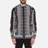 Versus Versace Men's Printed Long Sleeve Shirt - Black/White: Image 1