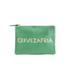 Clare V. Women's Flat Clutch Bag - Emerald Nappa With Blush Cervezafria: Image 1
