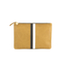 Clare V. Women's Supreme Flat Clutch Bag - Camel Black/White Stripes: Image 1