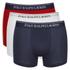 Polo Ralph Lauren Men's 3 Pack Boxer Shorts - White/Red/Blue: Image 1