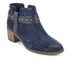 Clarks Women's Breccan Shine Suede Heeled Ankle Boots - Navy: Image 2