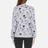 KENZO Women's Dandelion Print and Logo Sweatshirt - Pale Grey: Image 3