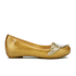 Mini Melissa Vivienne Westwood Kids' Ultragirl Cherub Ballet Flats - Gold Glitter: Image 1