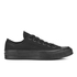 Converse Chuck Taylor All Star '70 Vintage Canvas Low Top Trainers - Black Monochrome: Image 1