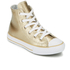 Converse Kids' Chuck Taylor All Star Metallic Leather Hi-Top Trainers - Light Gold/White/White: Image 2