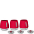 Morphy Richards 971361 Chroma Set of 3 Canisters - Red: Image 1