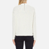 Maison Scotch Women's High Neck Sweatshirt With Special Textured Woven Front - White: Image 3
