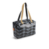 Orla Kiely Women's Linear Stem Print Laminated Zip Shopper Bag - Midnight: Image 3