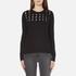MICHAEL MICHAEL KORS Women's Slash Neck Crew Sweater - Black: Image 1