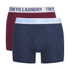 Tokyo Laundry Men's 2-Pack Cairns Boxers - Oxblood RP/Vintage Indigo: Image 1