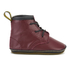 Dr. Martens Baby Auburn Crib Lace Booties - Cherry Red: Image 1