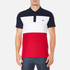 Lacoste Men's Short Sleeve Bold Stripe Polo Shirt - Navy Blue/White/Red: Image 1