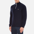Lacoste Men's Half Zip Funnel Neck Sweatshirt - Navy Blue/Silver Chine: Image 2