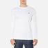 Lacoste Men's Long Sleeved Crew Neck T-Shirt - White: Image 1
