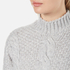 Gestuz Women's Sanni Pullover Grey Cable Knit Jumper - Grey: Image 5