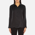 Gestuz Women's Maiden Silk Blouse With Bell Sleeves and Silk Buttons - Black: Image 1