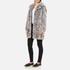 Karl Lagerfeld Women's Soft Curly Faux Fur Coat - Grey: Image 2