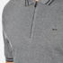 Michael Kors Men's Double Collar Zip Polo Shirt - Ash Melange: Image 5