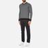 Michael Kors Men's Cotton Jacquard Crew Neck Jumper - Black: Image 4