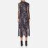 Ganni Women's Delaney Mesh Maxi Dress - Black Bouquet: Image 3