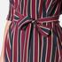 Ganni Women's Donaldson Silk Tie Blouse - Cabernet Stripe: Image 6