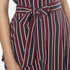 Ganni Women's Donaldson Silk Stripe Dress - Cabernet Stripe: Image 5