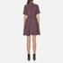 Ganni Women's Donaldson Silk Stripe Dress - Cabernet Stripe: Image 3
