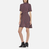 Ganni Women's Donaldson Silk Stripe Dress - Cabernet Stripe: Image 2