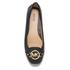 MICHAEL MICHAEL KORS Women's Fulton Leather Mocc Ballet Flats - Black: Image 3