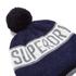 Superdry Men's Super Stripe Logo Beanie Hat - Navy Marl: Image 3