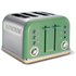 Morphy Richards 242006 New Accents 4 Slice Toaster - Sage (Trim Included): Image 1