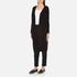 Paisie Women's Ribbed Knee Length Cardigan - Black: Image 2