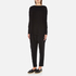 Paisie Women's Ribbed Jumper with Side Splits - Black: Image 4