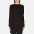 Paisie Women's Ribbed Jumper with Side Splits - Black: Image 1